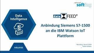 Anbindung Siemens S7 1500 an die IBM Watson IoT Plattform