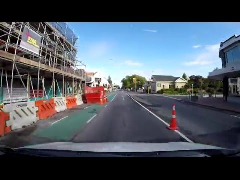Driving in New Zealand: Papanui Road/ Main North Road, Christchurch