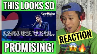 """Eurovision 2019: Duncan Laurence """"arcade""""   The Netherlands First Rehearsals [reaction]"""