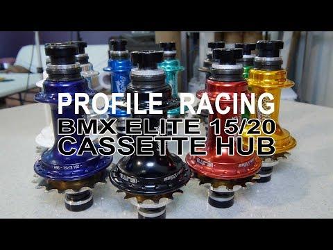 BMX RACE PARTS - Profile Racing - 15/20MM BMX Elite Cassette Hub