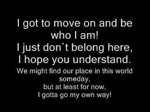 I gotta go my own way  vanessa hudgens WLYRICS