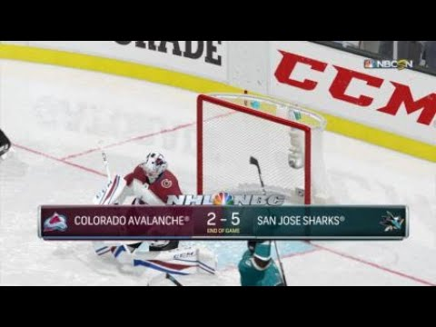 You're In The Deep Now, Sharks Vs. Avalanche | NHL 18