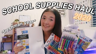 BACK TO SCHOOL SUPPLIES HAUL 2020! *freshman year*