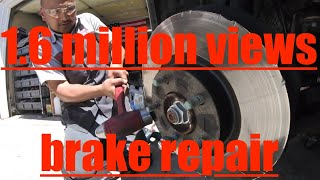 CLEVER WAY to remove Rusted ROTOR!! Mazda 3 ROTOR & Brake Pad Replacement√ Fix it Angel