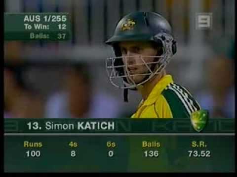 Simon Katich's only one day century - Vs Sri Lanka 2006