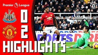 Highlights | Newcastle 0-2 Manchester United | Lukaku & Rashford Seal the Points | Premier League