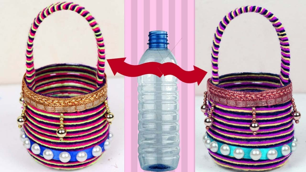 plastic bottle ideas crafting how to make basket out of plastic bottle recycle bottle 5213