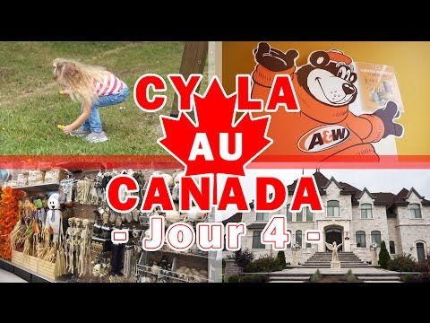 [Daily Vlogs CyLa au Canada] Jour 4 - Chambly, A&W, Shopping, Halloween, Manoirs et Ciné !