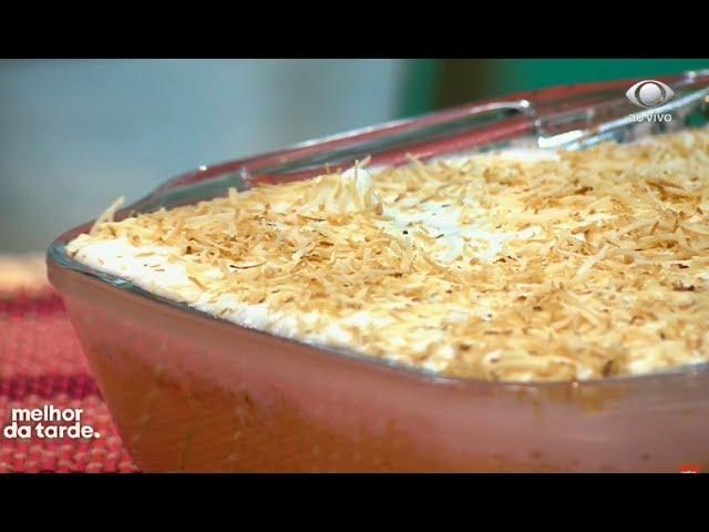 Aprenda a fazer sobremesa de coco com doce de leite