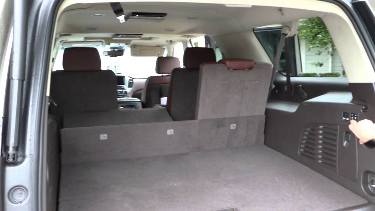 Review of 2015 Chevy Suburban Trunk Space - YouTube