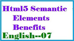 Benefits of Using the Html5 Semantic Elements in English-vlr training