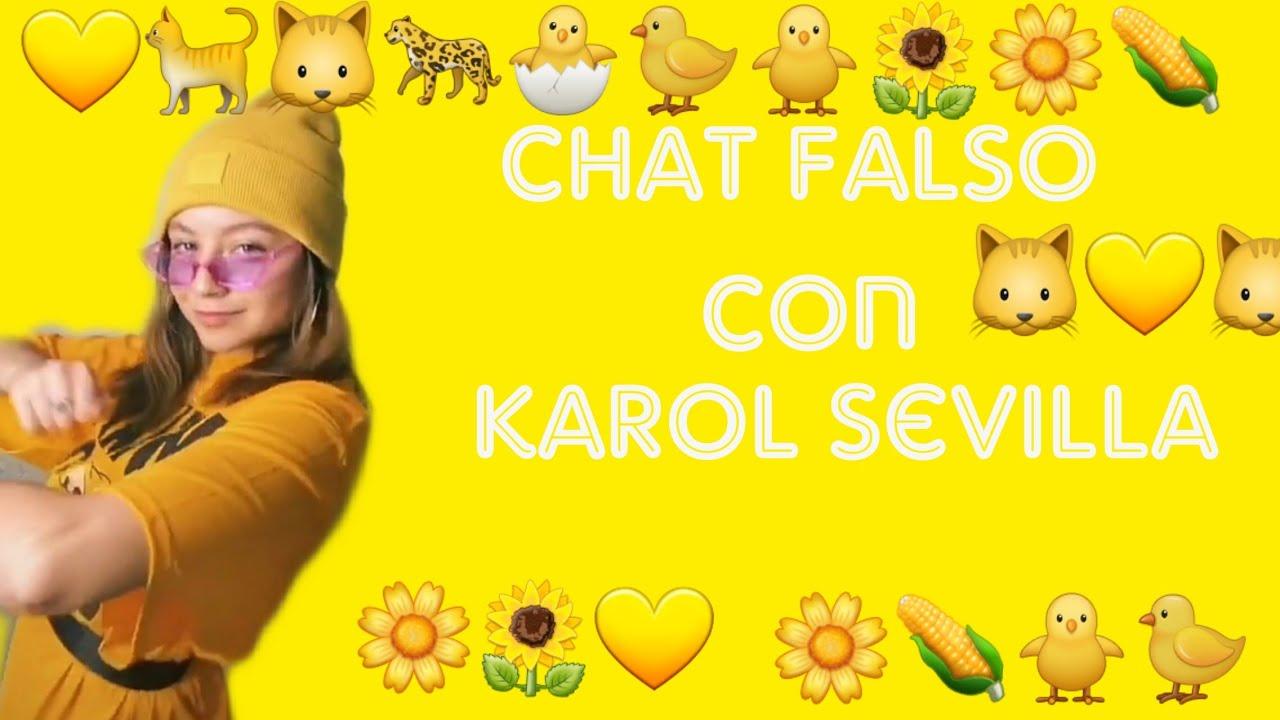 Chat falso con karol sevilla leer en la descripción - YouTube