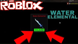 I CRAFTED THE WATER ELEMENTAL *CRAZY* (ROBLOX ASSASSINS WATER ELEMENTAL)