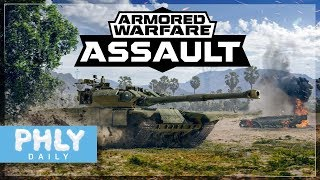 MODERN TANKS In Your Pocket   Armored Warfare Assault Gameplay