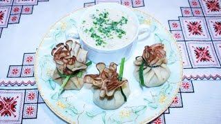 Грибной суп рецепт Грибна юшка просто и доступно Суп грибной  Суп с грибами Суп из шампиньонов