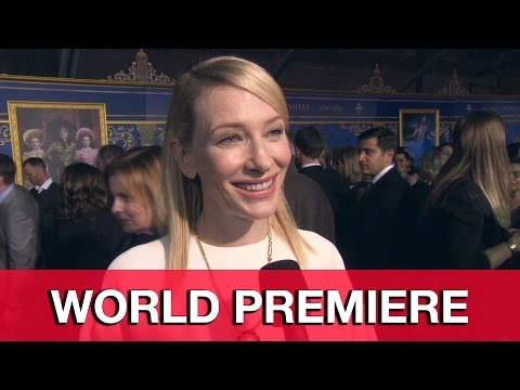 Cate Blanchett Cinderella World Premiere Interview