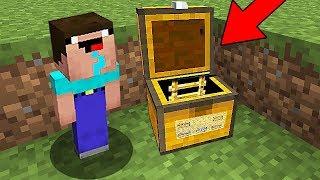 НУБ В 1 БЛОК ПОСТРОИЛ ДОМ В СУНДУКЕ В Майнкрафте! Minecraft Мультики Майнкрафт троллинг Нуб и Про