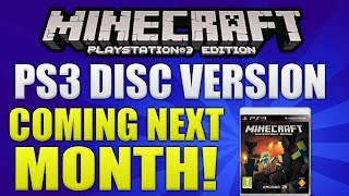 Minecraft PlayStation: 3 Edition Disc Version Coming Next Month! Official Trailer & More [PS3 NEWS]