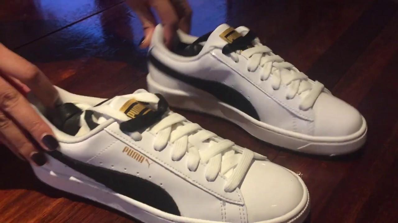 buy online 4d4bb 7a162 [Unboxing] PUMA x BTS Basket Patent Sneakers 180112