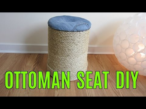 how to make ottoman seat diy youtube. Black Bedroom Furniture Sets. Home Design Ideas
