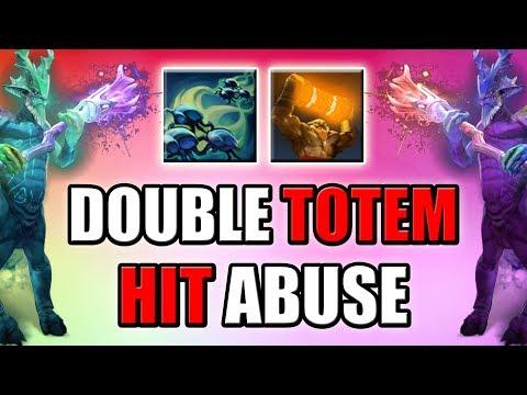 Invisible Double Enchant Totem Hit Abuse [Interesting Dota 2 Mechanics] Ability Draft