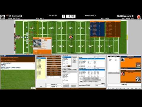 Denver Broncos 2015 vs Cleveland Browns 1965 NFL Challenge League 1st QRT