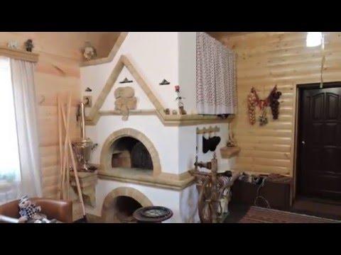 Красивые комнаты посередине печка в доме