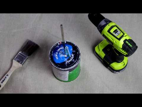 How To Stir Paint With A Drill - D.I.Y. Bunnings Warehouse
