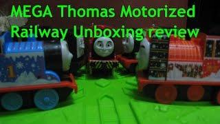 MEGA Thomas Motorized Railway toy trains unboxing