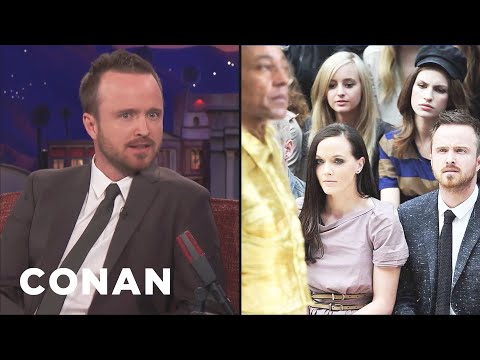 "Aaron Paul Reacts To ""Aaron Paul Confused By Fashion"" Memes  - CONAN on TBS"