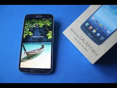 Samsung Galaxy Mega 6.3 - Unboxing deutsch