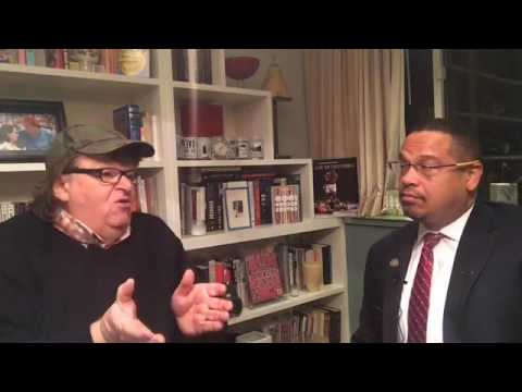 Michael Moore Chats With Keith Ellison