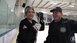 Barstool Chicago skates with Jeremy Roenick