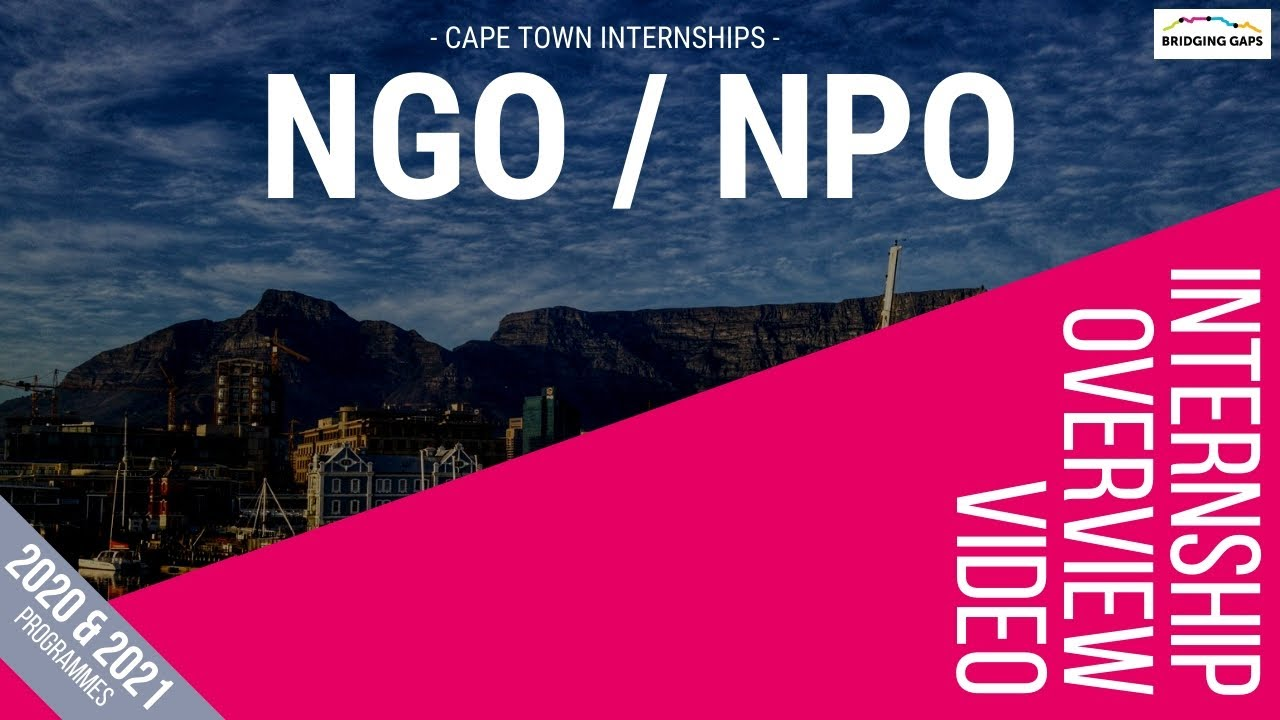 NGO & NPO Internships in Cape Town - Fully Customised
