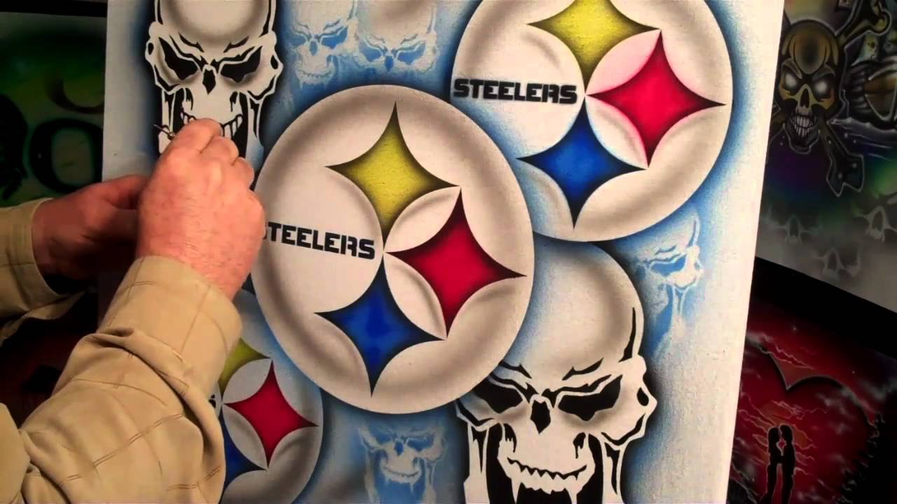 T-shirt design quick - Airbrush A Sick Steelers Design Quick And Easy For T Shirts