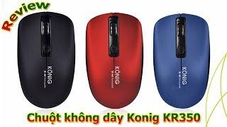 Review Chuột không dây Konig Kr350 Dùng Pin Sạc Điện