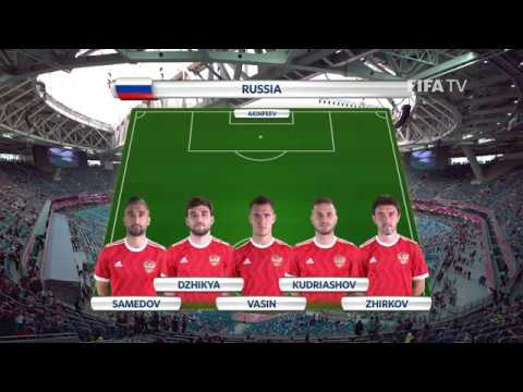 Match 1 - Russia v New Zealand - Team Lineups - FIFA Confederations Cup 2017