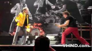 "Van Halen rehearsing their classic hit ""Panama"" during their ""Frien..."