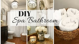 SPA BATHROOM DECOR IDEAS | SMALL BATHROOM MAKEOVER