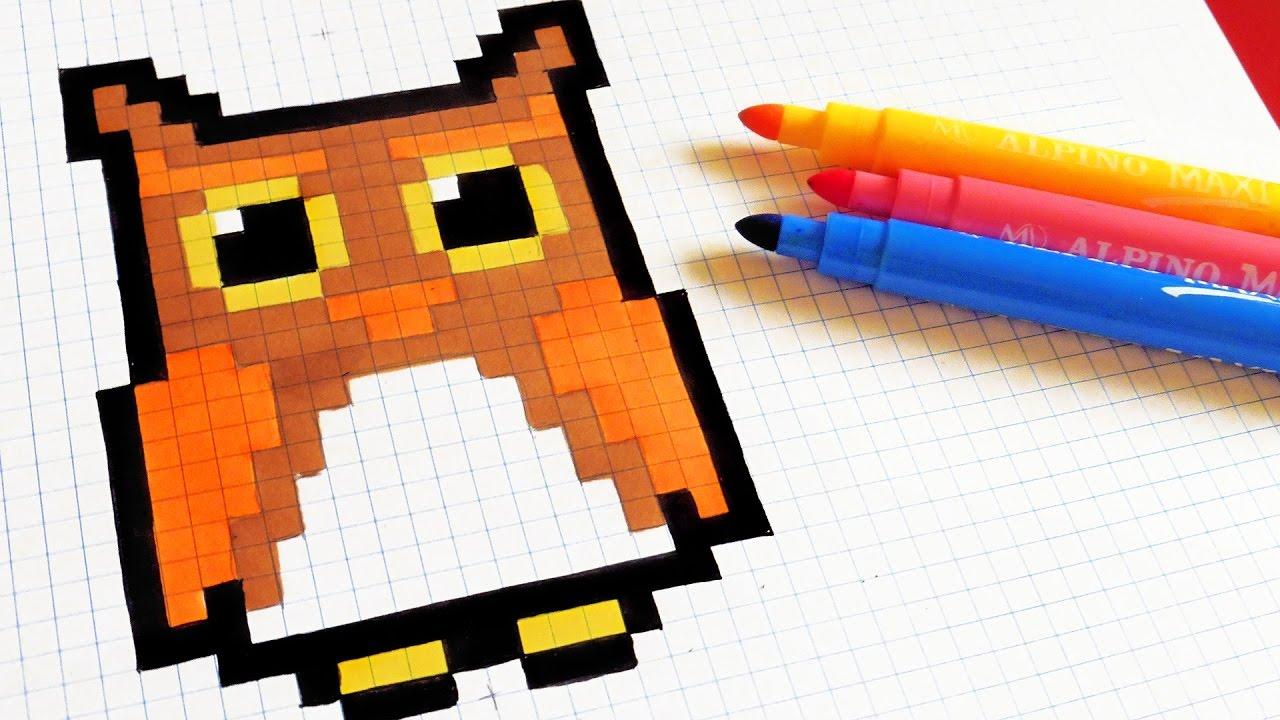 Dessin Pixel Art Chouette