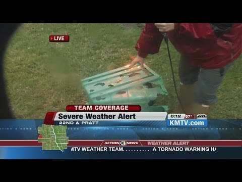 North Omaha Blasted by Evening Storm