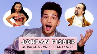 Jordan Fisher from Rent Live Sings Moana, Hamilton, and More Hit Musical Songs | Lyric Challenge