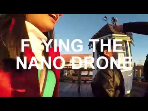 Flying a Nano Drone in Fisherman's Wharf Richmond British Columbia Canada