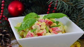 Как украсить салат на Новый год  Идеи оформления