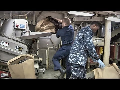 Trash Room On Aircraft Carrier: USS George H.W. Bush – Waste Management