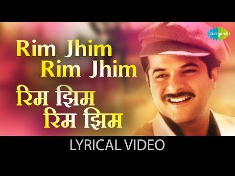 Rim Jhim Rim Jhim With Lyrics | रिम झिम रिम झिम गाने के बोल | 1942-Love Story | Anil Kapoor, Manisha