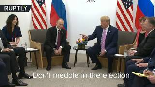 Trump trolls press, 'orders' Putin not to meddle in US elections
