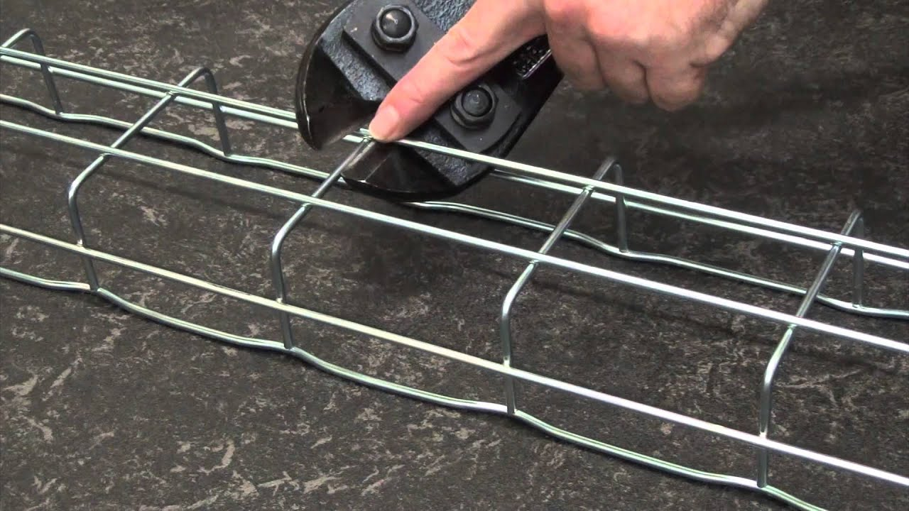 How to form riser bends with Cablofil steel wire cable tray - YouTube