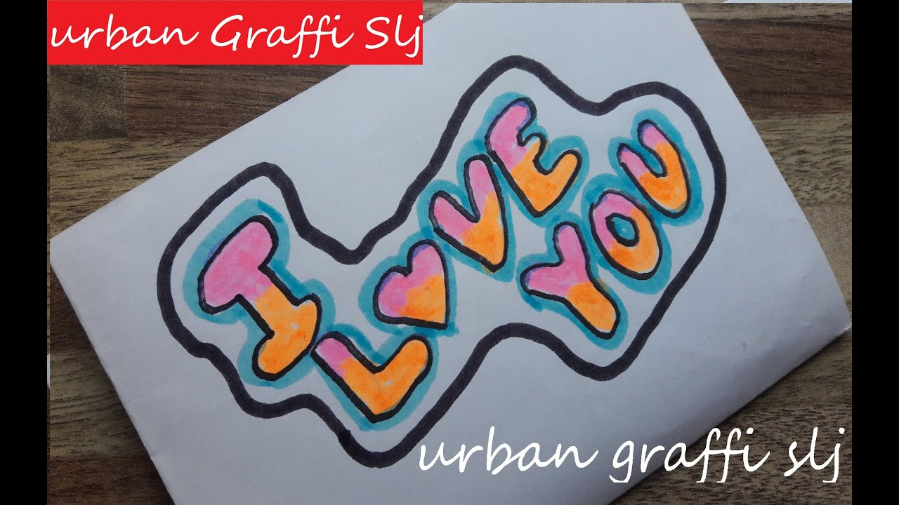 How to draw i love you in graffiti letters como dibujar un graffiti que dice i love you