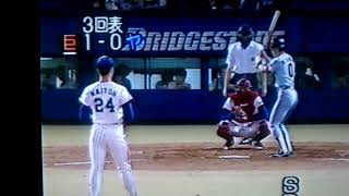 89年 ヤクルト対巨人 1イニング3ホームラン。川相、原、岡崎